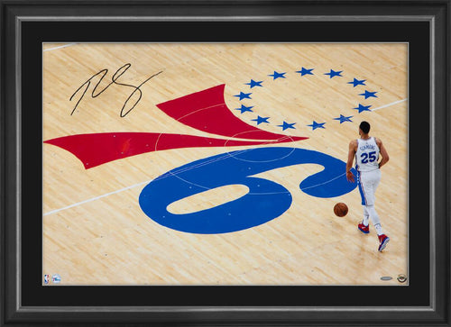 BEN SIMMONS SIGNED 'ONE STEP AT A TIME' FRAME