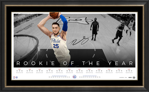 BEN SIMMONS SIGNED 'ROOKIE OF THE YEAR' FRAME