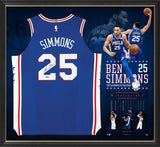 BEN SIMMONS SIGNED ROOKIE OF THE YEAR JERSEY FRAME