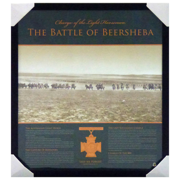 ANZAC-The Battle of Beersheba - Change of the Light Horsemen - Framed ANZAC Piece