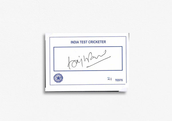 Indian Test Cricketer Card Signed - Brajesh Patel