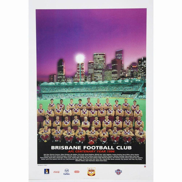 Brisbane Bears 1996 Team Poster