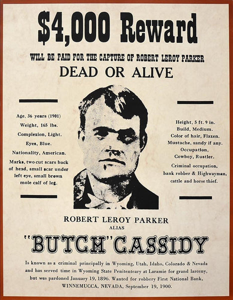Wanted Dead Or Alive Butch Cassidy Poster