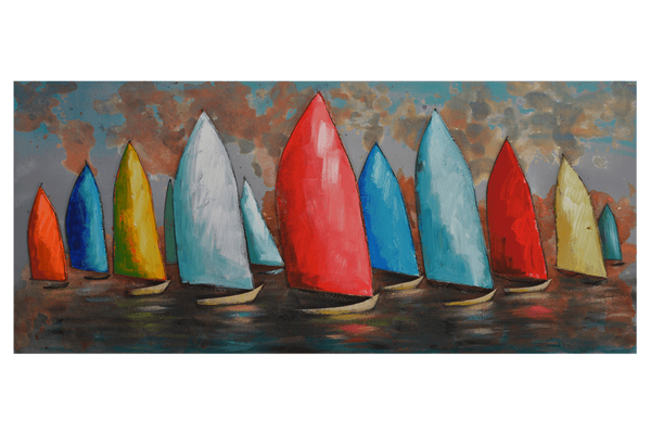 Sail Boats 3D Oil Painting