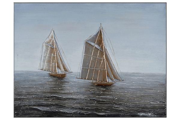 Two Ships 3D Oil Painting