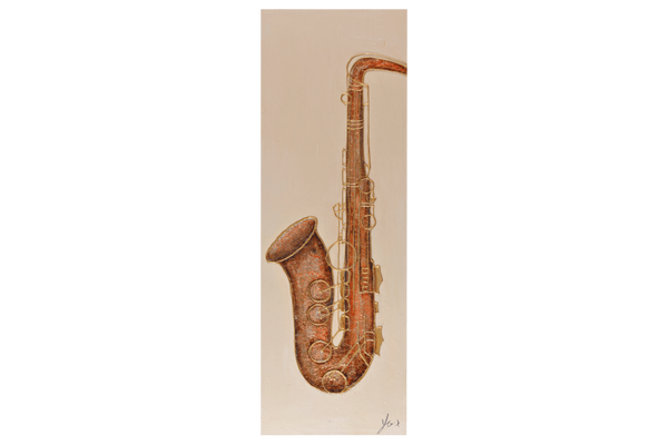 3D - Saxophone  Oil Painting