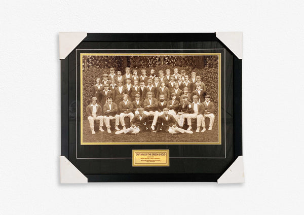 Captains Of Green & Gold Print - Signed by 5 Australian Cricket Captains FRAMED