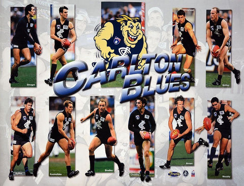 Carlton Blues Best of Hero Team Poster