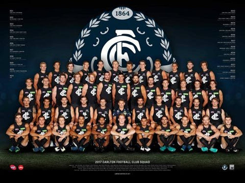 Carlton Football Club Team Poster 2017