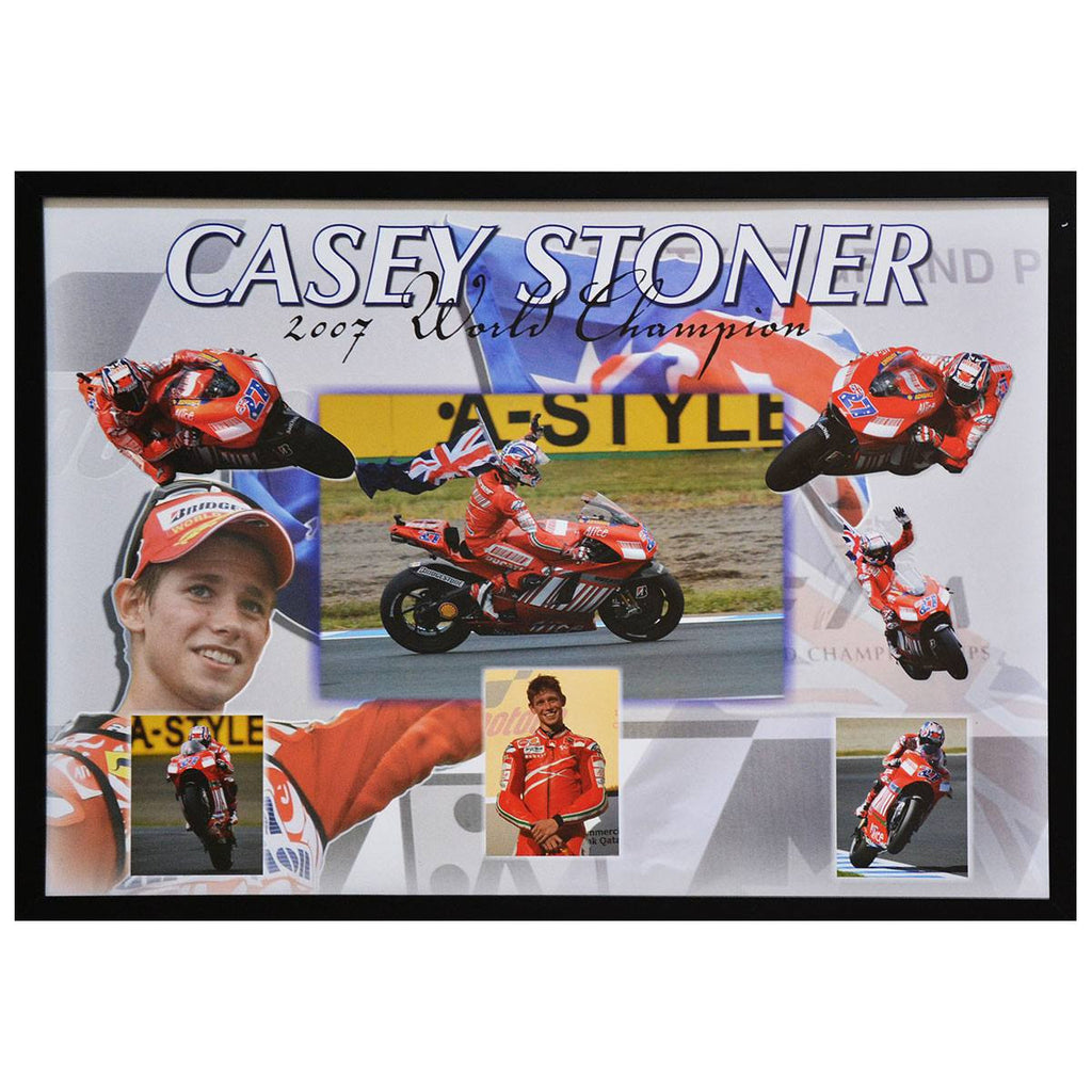 Casey Stoner 2007 MotoGP World Champion Poster Framed