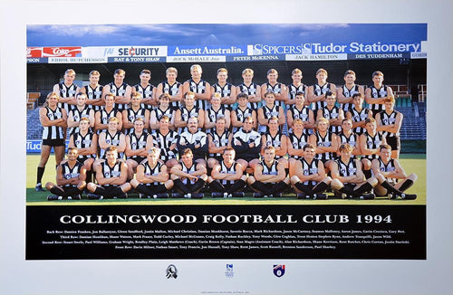 Collingwood 1994S Team Poster