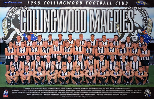 Collingwood 1998 Team Poster