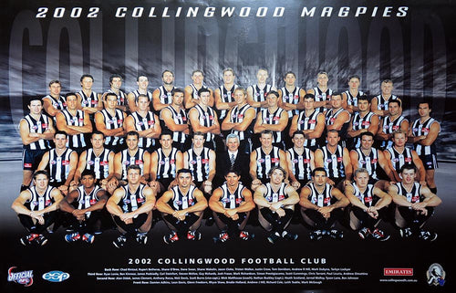 Collingwood 2002 Team Poster