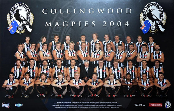 Collingwood 2004 Team Poster