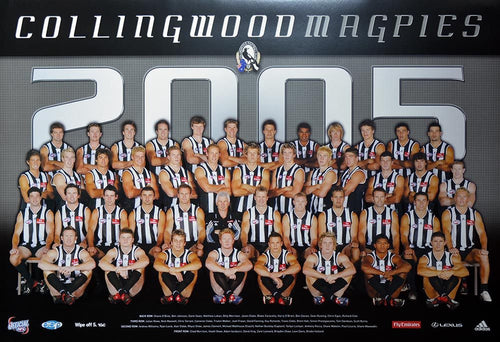 Collingwood 2005 Team Poster
