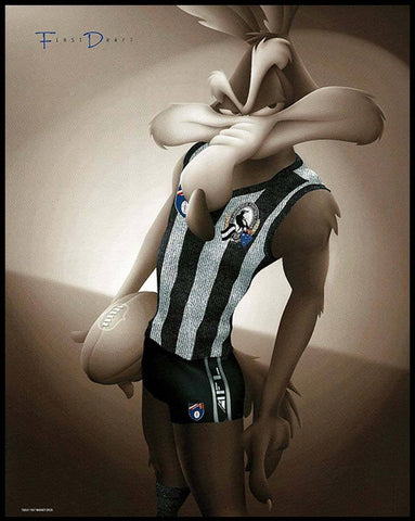 Collingwood Looney Tunes Print