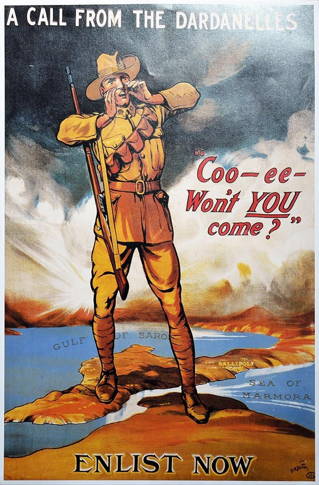 WW1 Enlistment Dardanelles Poster