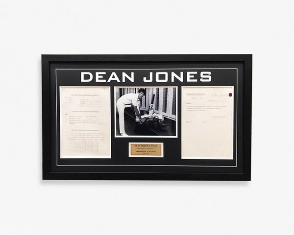Framed Dean Jones Print (Promotion Contract)