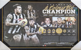 "COLLINGWOOD- Dane Swan – ""A Colourful Champion"" Print Framed"