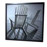 3D - Deck Chairs  Framed Canvas