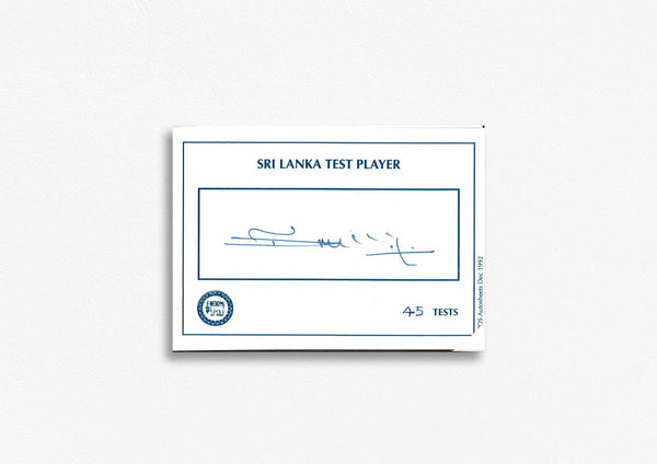Sri Lanka Test Cricketer Card Signed - Dilshan Tilekeratne