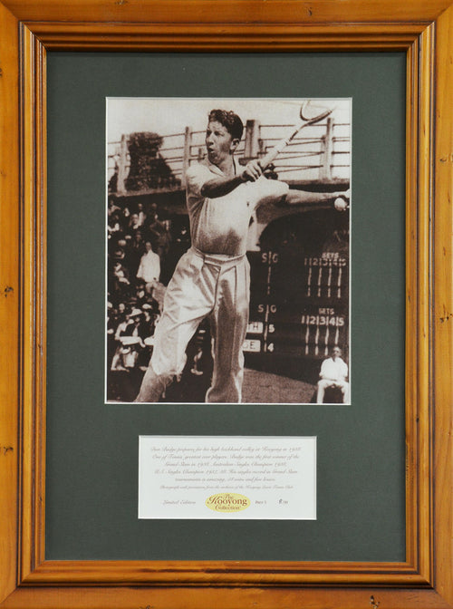 Don Budge 'Kooyong Collection' Framed Photograph - Tennis, Rare