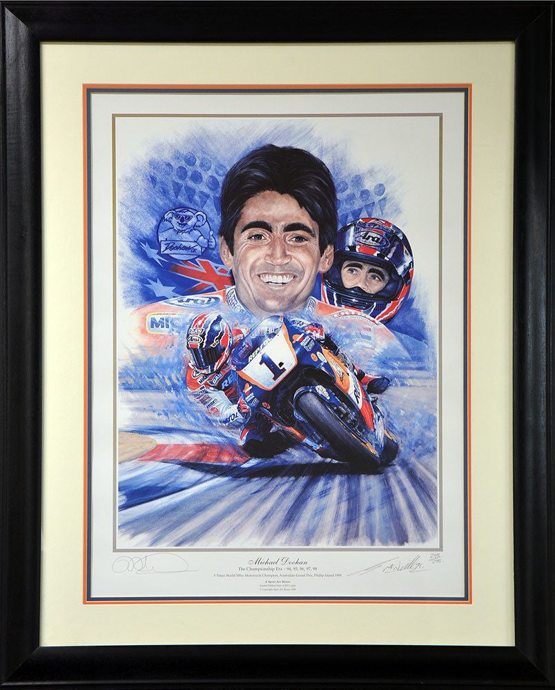 Mick Doohan 5x World Champion Signed Print