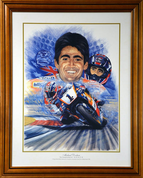 Mick Doohan 5x World Champion Print