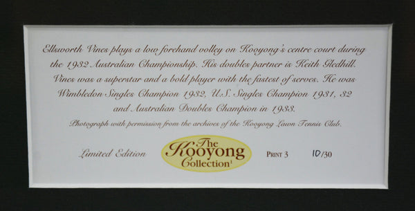 Ellsworth Vines 'Kooyong Collection' Framed Photograph