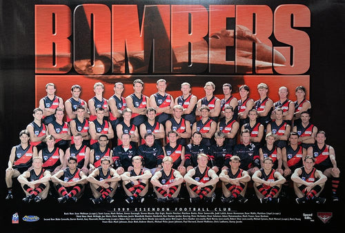 Essendon 1999 Team Poster