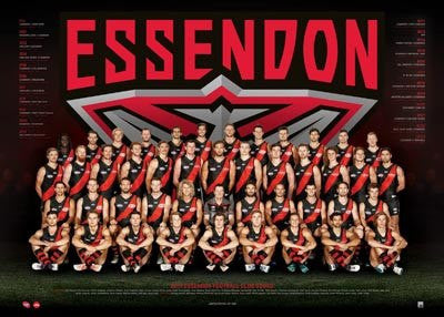 Essendon Football Club Team Poster 2017