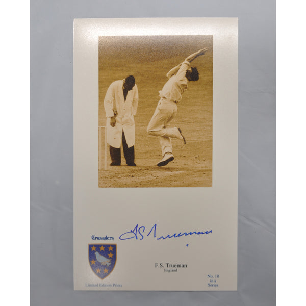 ENGLAND-FRED TRUMAN OBE English Test Cricketer signed photo