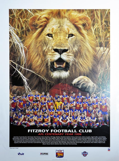 Fitzroy 1996 Team Poster