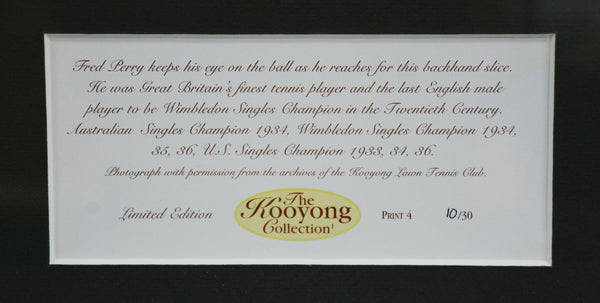 Fred Perry 'Kooyong Collection' Framed Photograph