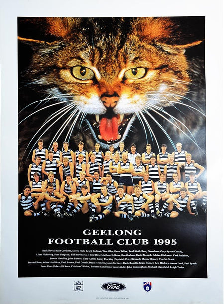 The Football Match - Bulldogs v Cats Print