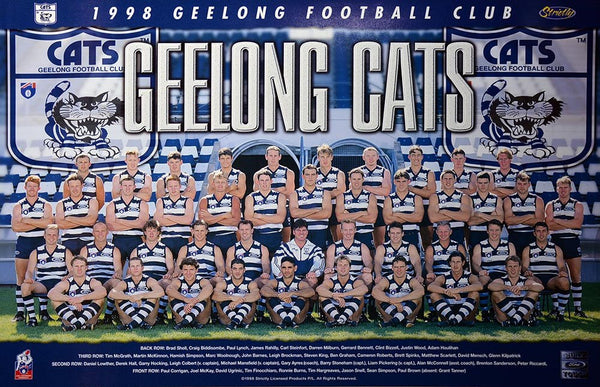 Geelong 1998 Team Poster