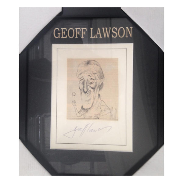 GEOFF LAWSON Australian Test Cricketer CARICATURE SIGNED FRAME