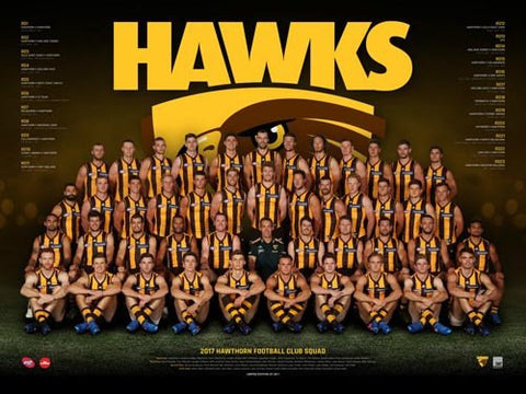 Hawthorn Football Club Team Poster 2017
