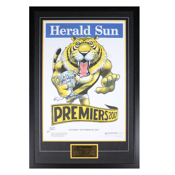 Richmond 2017 Premiers Herald Sun Poster- Framed