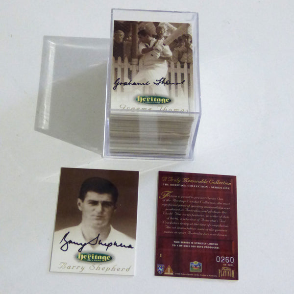 The Heritage Collection Signed Cricket Cards Unframed