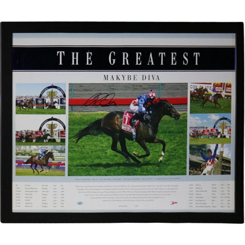 The Greatest (Makybe Diva) Framed