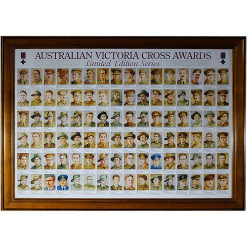 Australian Vic Cross Awards Framed