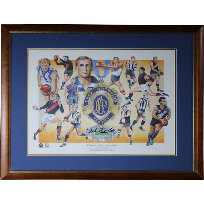 Chas Brownlow Trophy - Legends Of The Brownlow - Signed & Framed