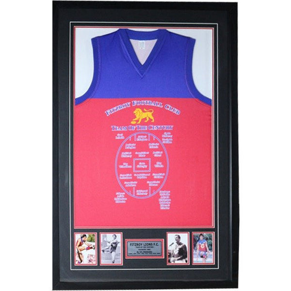 Fitzroy FC Jersey Team of the Century Framed