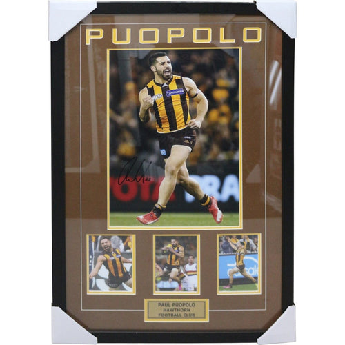 Paul Puopolo - Hawthorn Football Club Framed with Signature