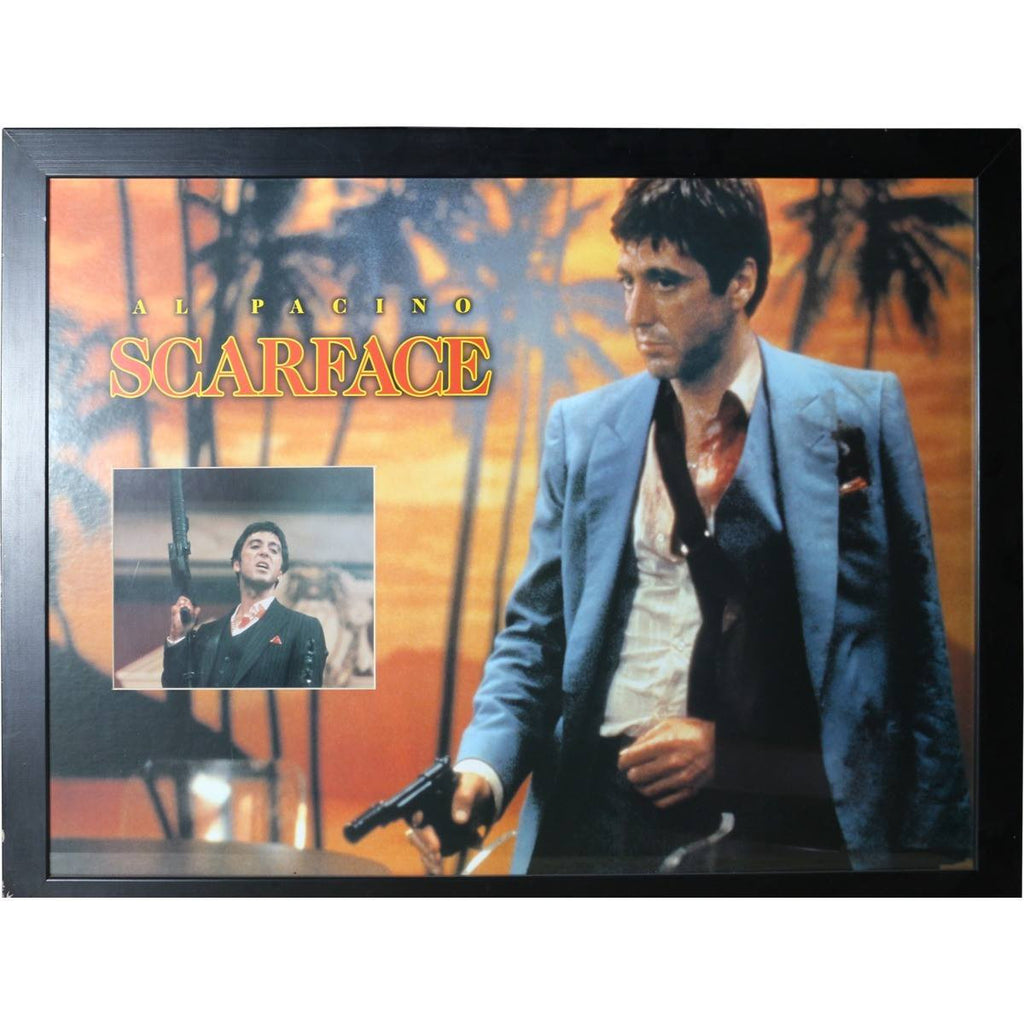 Al pacino scarface poster framed memorabiliawarehouse al pacino scarface poster framed jeuxipadfo Images