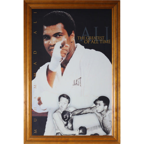 The Greatest of All Time - Muhammad Ali Poster - Timber Frame