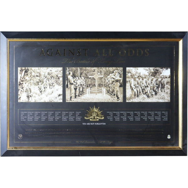 Against All Odds - The Battle Of Long Tan Print Framed