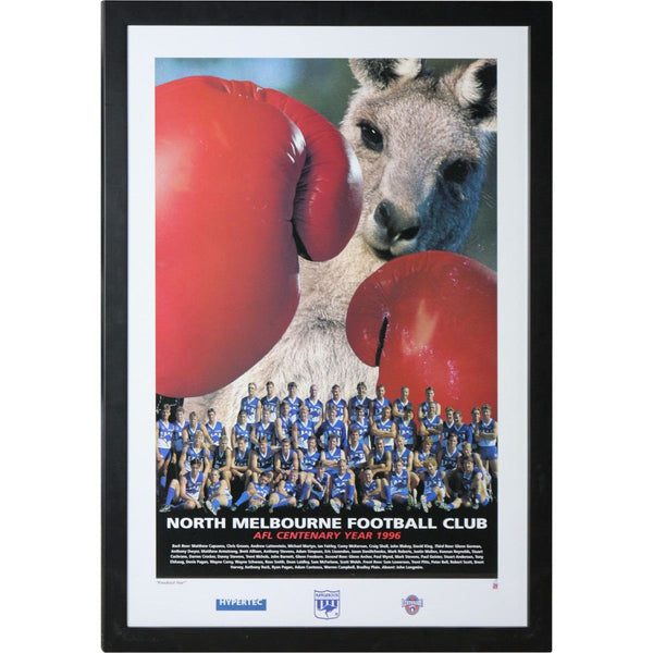 North Melbourne Football Club - AFL Centenary Year 1996 Print Framed