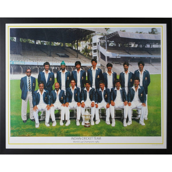 Indian Cricket Team - World Cup Champions 1983 Framed